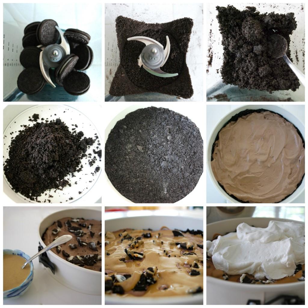 Homemade ice cream cake oreos