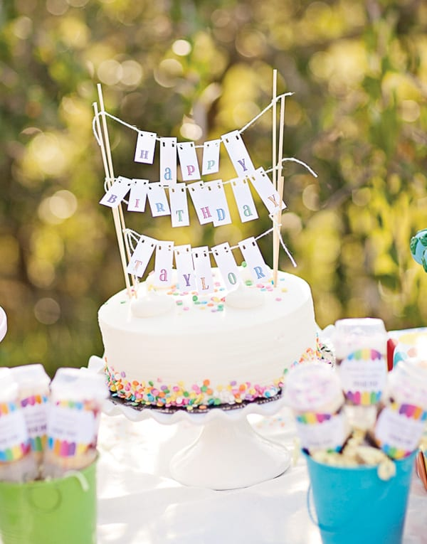 Up Birthday Cake Flag Banner Via Hostess With The Mostess