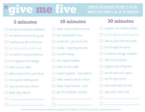 Give me 5, 10, or 30 minutes to Declutter // Home Your Way}