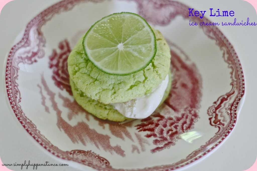 Key Lime Ice Cream Sandwiches - Simply Happenstance