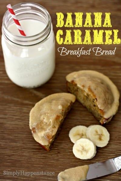 Banana Caramel Breakfast Bread