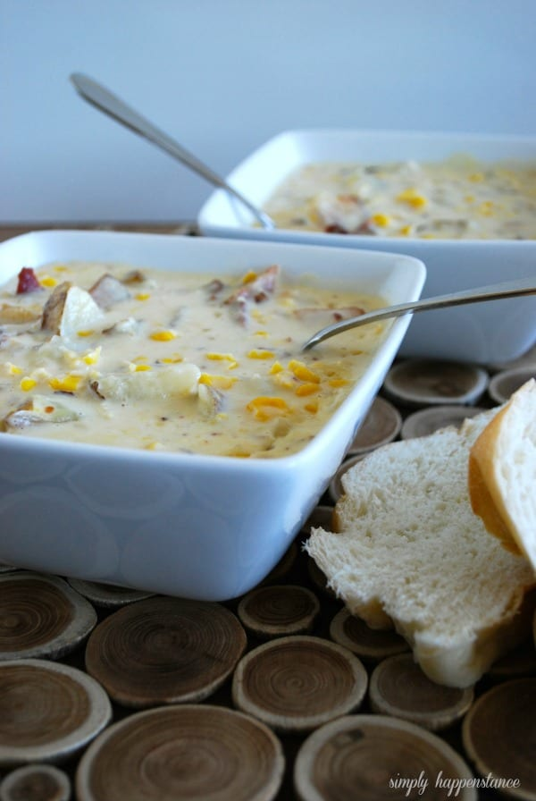 Creamy Corn Chowder Soup {Simply Happenstance}