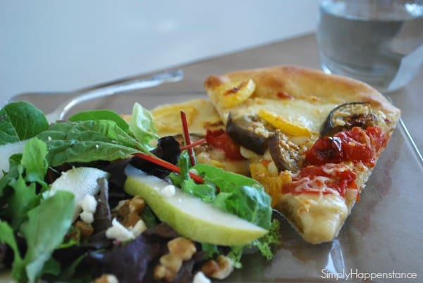 Eggplant & Squash Pizza 3 via Simply Happenstance