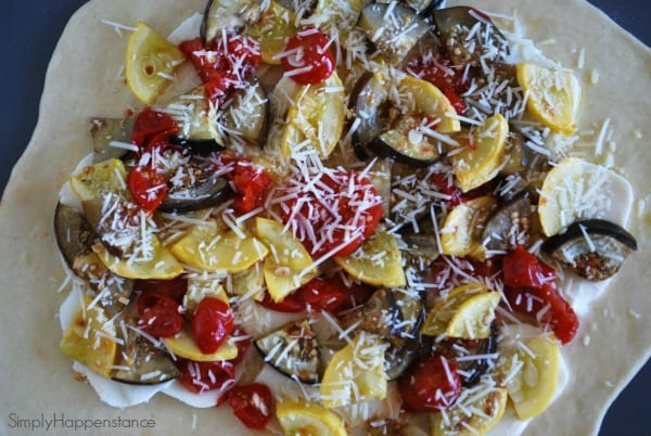 Homemade Eggplant & Squash Pizza via Simply Happenstance