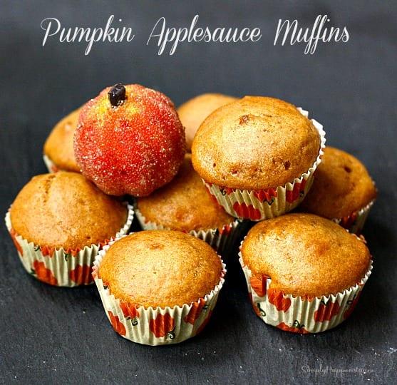 Pumpkin Applesauce Muffins - Simply Happenstance