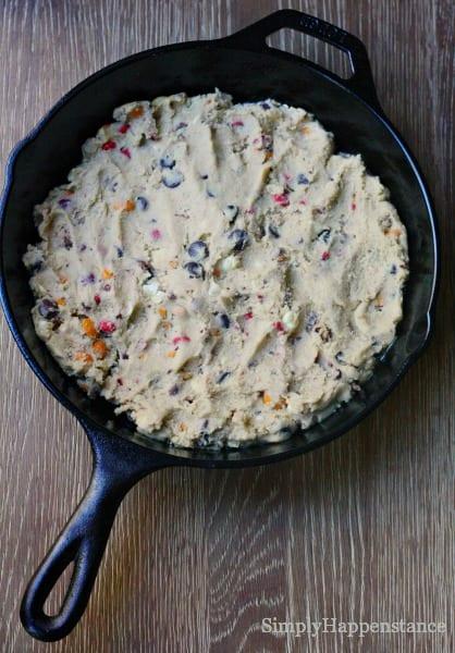 m&m skillet cookie 5