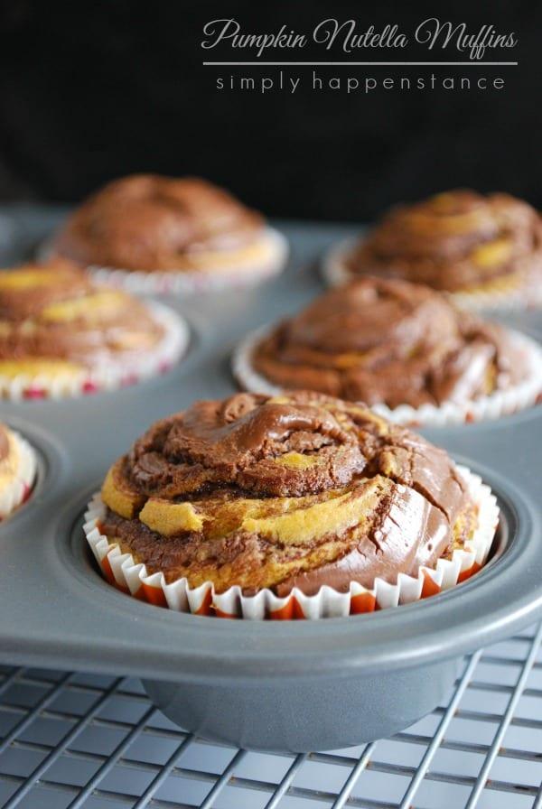 Pumpkin Nutella Muffins {Simply Happenstance}