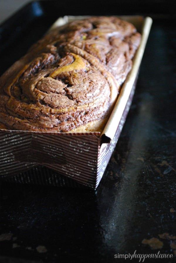 Pumpkin Nutella Swirl Loaf {via Simply Happenstance}