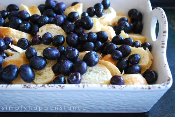 Blueberry Croissant Bread Pudding via Simply Happenstance