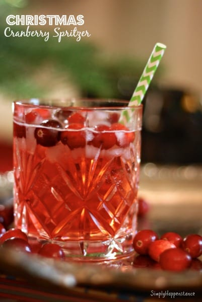 Christmas Cranberry Spritzer by Simply Happenstance