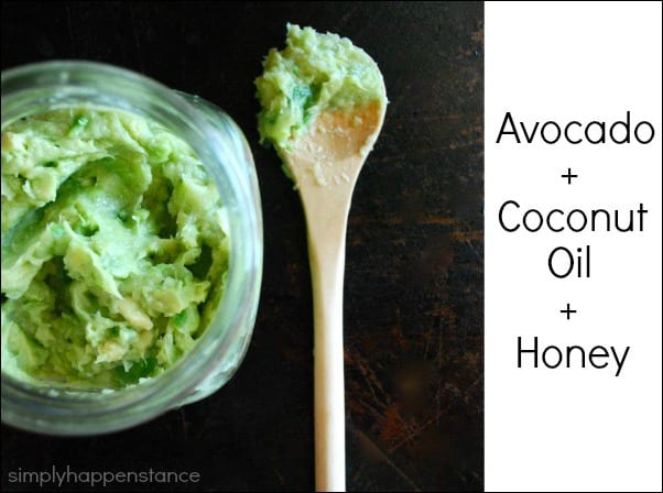 Avocado, Coconut Oil, and Honey Hair Mask {via Simply Happenstance}