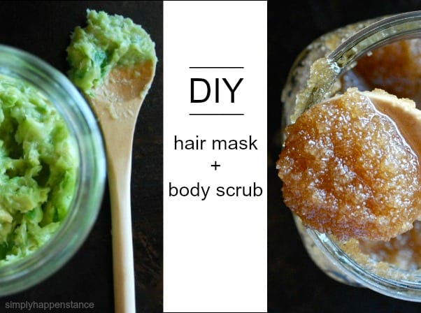 DIY Hair Mask and Body Scrub Recipes via Simply Happenstance Blog