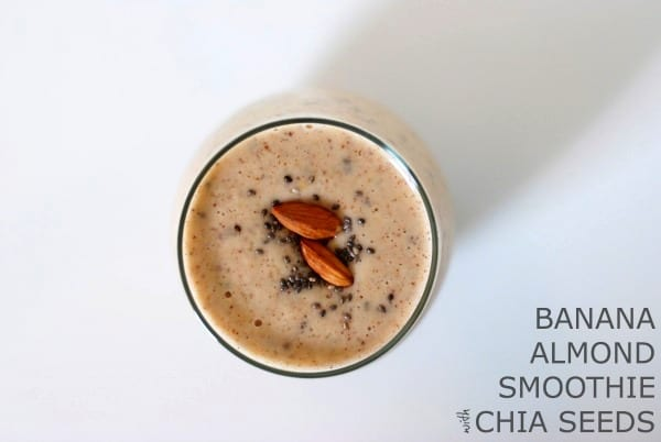 Banana Almond Smoothie with Chia Seeds {via Simply Happenstance} #smoothie #chia #almondbutter #banana.jpg.jpg.jpg