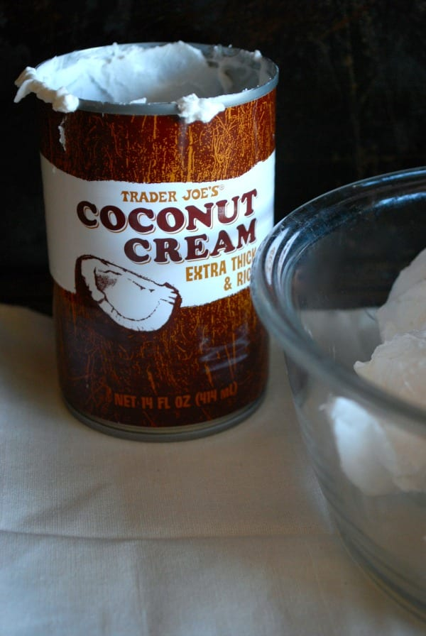 Coconut Cream from Trader Joe's {recipe for Coconut Whipped Cream via Simply Happenstance Blog}