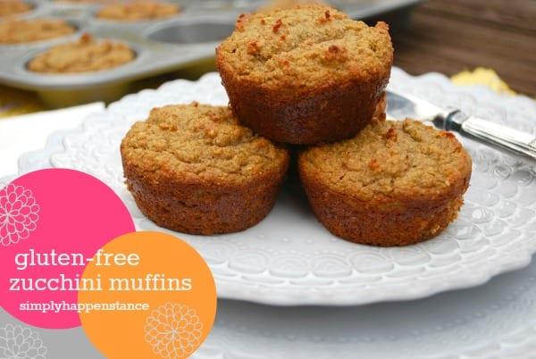 Gluten-Free Zucchini Muffins {via Simply Happenstance} #glutenfree #muffins #healthy #snacks #breakfast