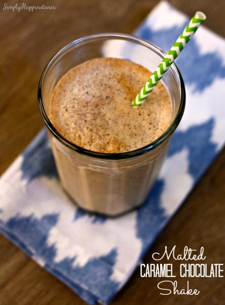 Malted Caramel Chocolate Shake - Simply Happenstance