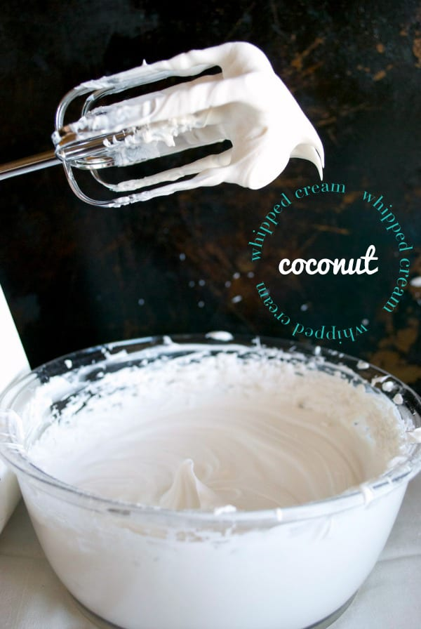 Whipped Coconut Cream {recipe via Simply Happenstance}