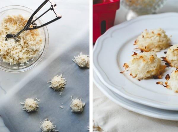 gluten-free lemon vanilla bean macaroons