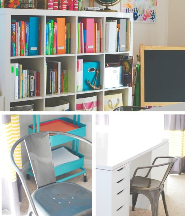 Homeschool room tour simply happenstance for Home school room ideas
