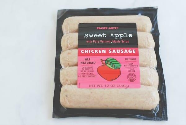 Trader Joe's Chicken Sausage Veggie Bowl {simplyhappenstance.com}
