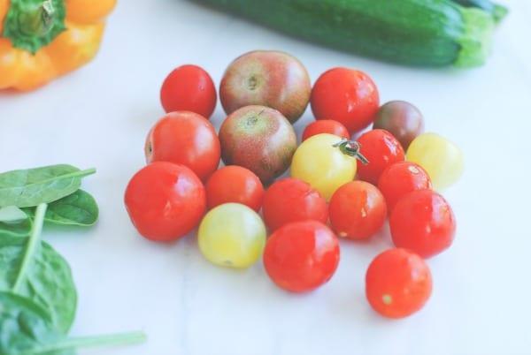 chicken sausage veggie bowl {via simplyhappenstance