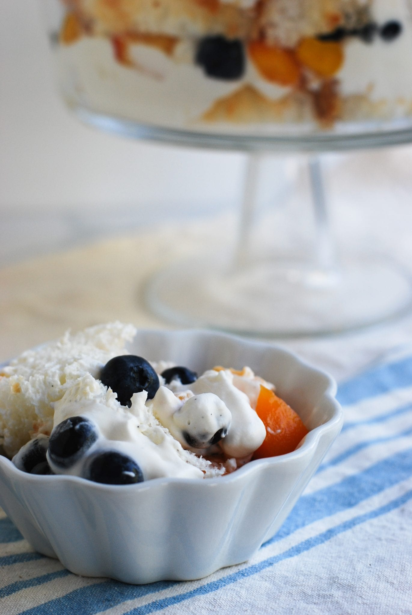 Angel Food Cake With Blueberry Topping