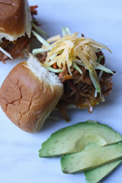 Easy Crock Pot Barbecue Chicken Sandwiches