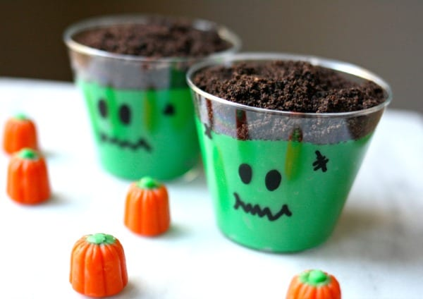 easy halloween pudding cups - Pudding Halloween Desserts