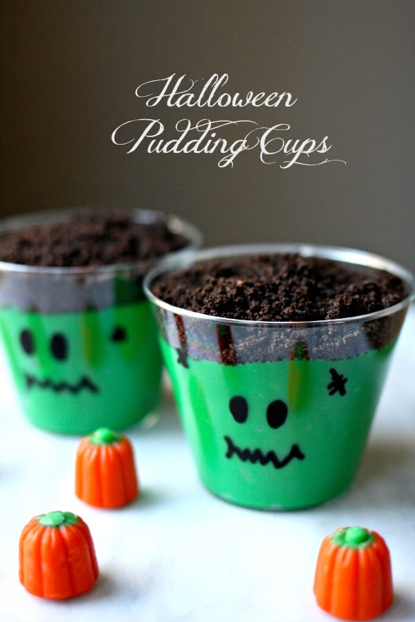 easy halloween pudding cups