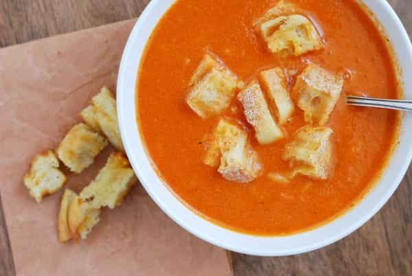 Homemade Tomato Soup w-Grilled Cheese Croutons {simplyhappenstance.com}-49