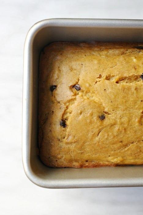 Pumpkin Chocolate Chip Bread with Brown Sugar Crumble
