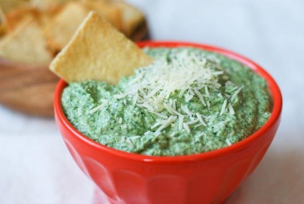 Healthier Spinach Artichoke Dip