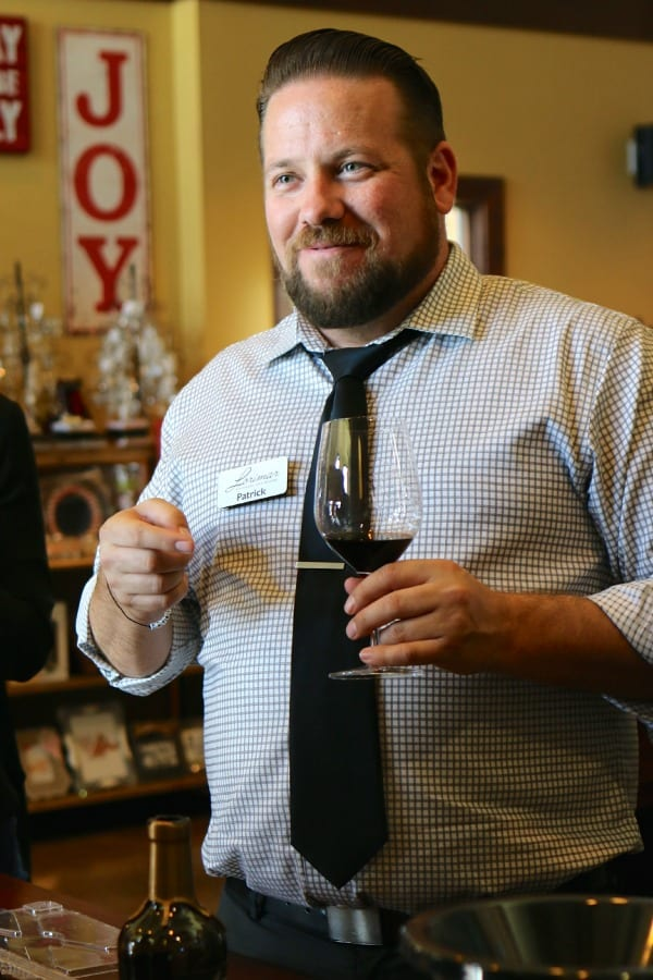 Patrick at Lorimar Winery. Educating us on wine.