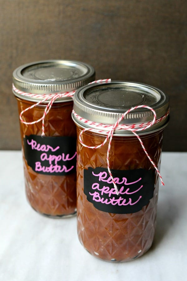 Easy Pear Apple Butter a great gift to eat and give for the holidays.