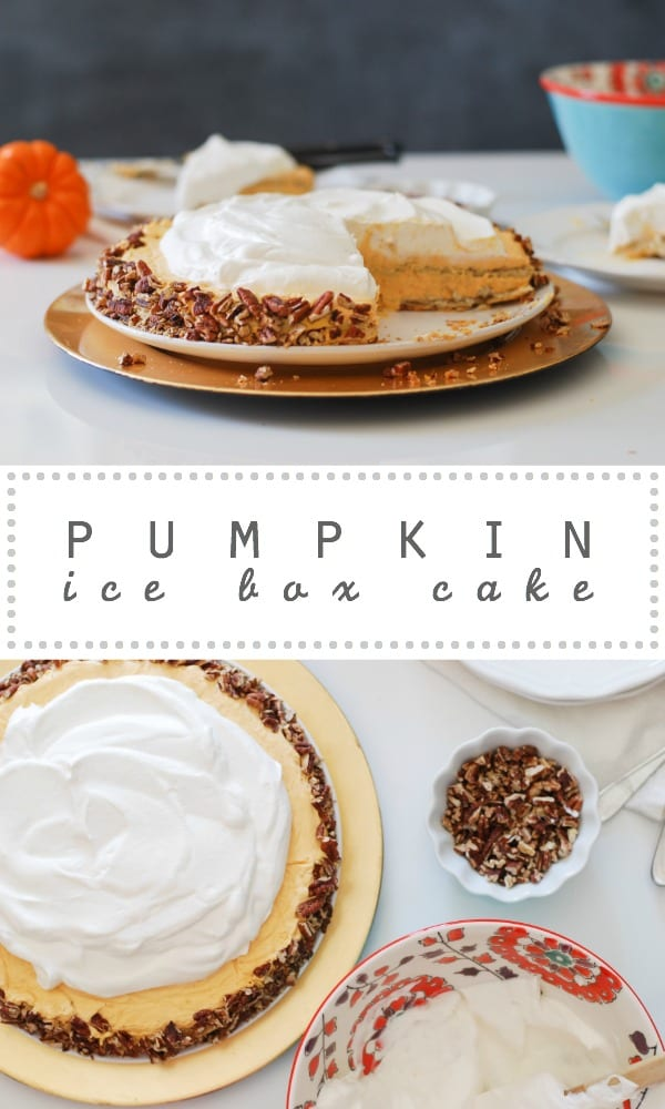 Pumpkin Ice Box Cake // Simply Happenstance