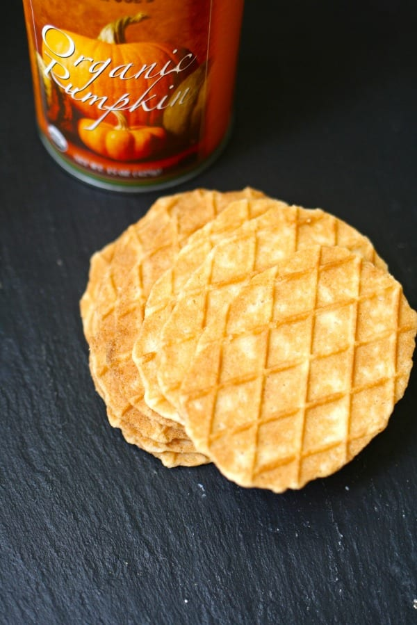 Pumpkin and butter waffle cookies