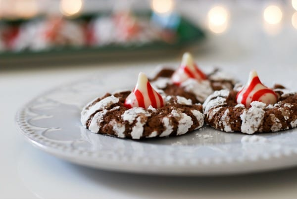Chocolate Peppermint Crinkle Cookies | Simply Happenstance