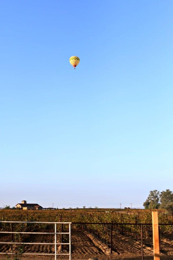 Hot Air Balloon over Lorimar Winer #lorimarsleepover