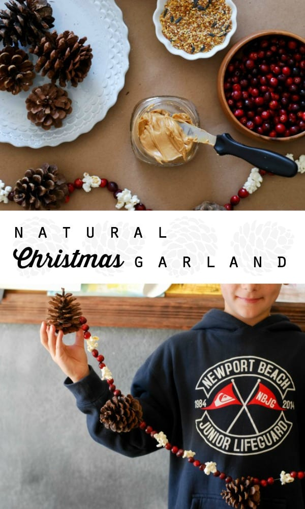 Natural Christmas Garland | Tutorial on simplyhappenstance.com