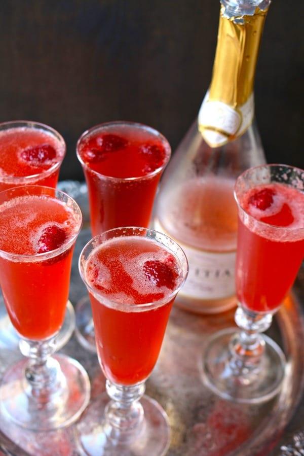 Raspberry Holiday Spritzer