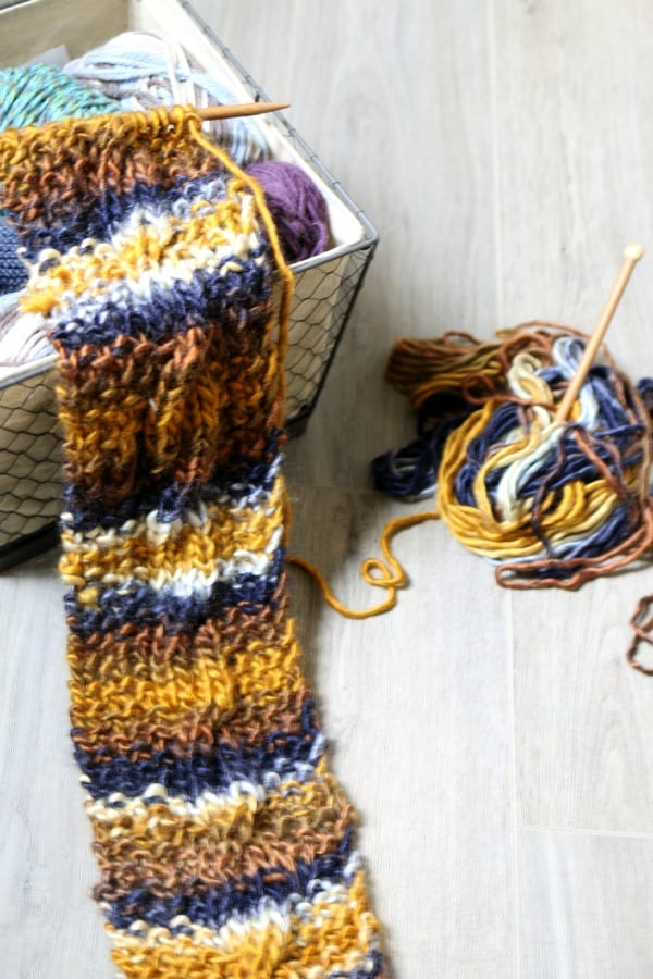 Do It Yourself Cable Knit Scarf.