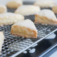 Vanilla Bean Scones - a copycat recipe of the ones we all love from Starbucks!