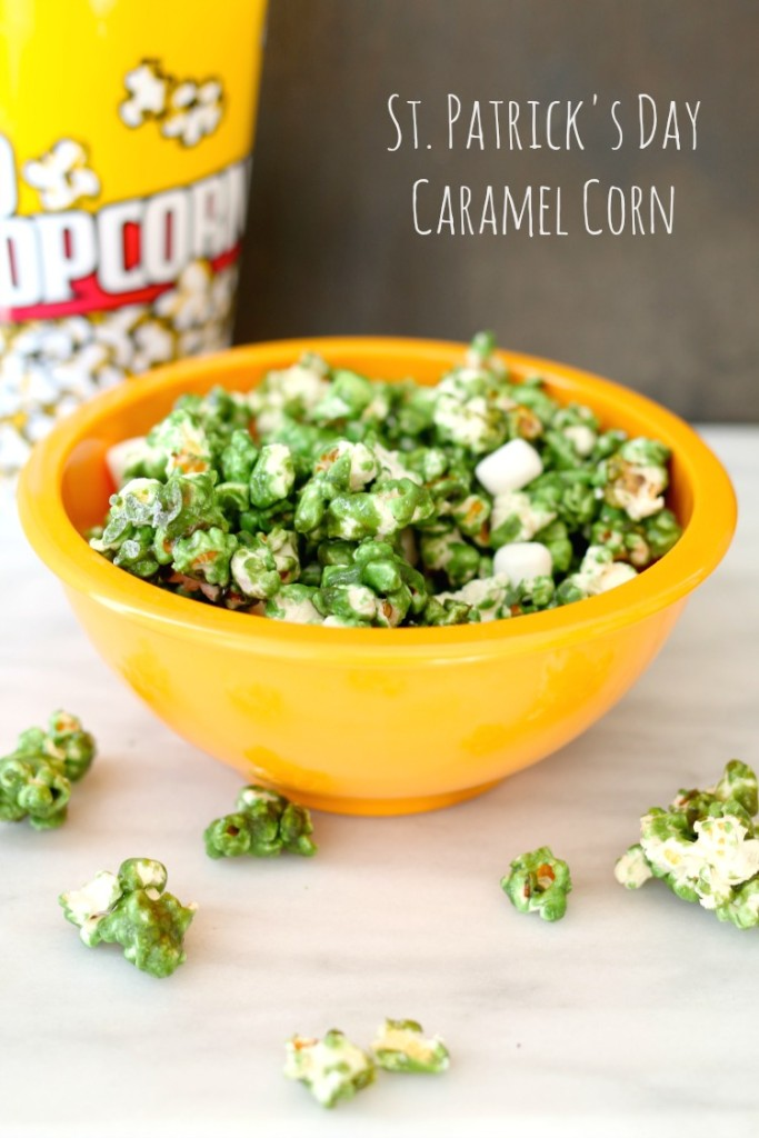 St. Patrick's Day Caramel Corn, perfect for your little leprechauns.
