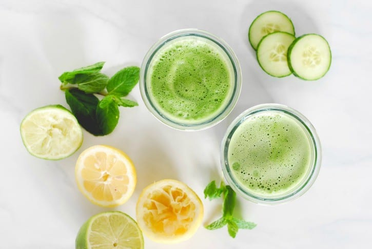 refreshing and energizing cucumber mint green juice  simply happenstance