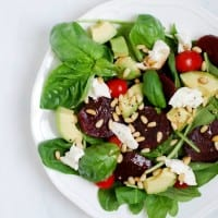 Beet Caprese Salad Recipe via Simply Happenstance #capresesalad #beets