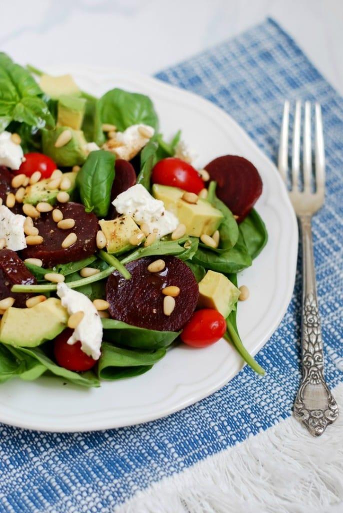 Beet Caprese Salad (via Simply Happenstance)