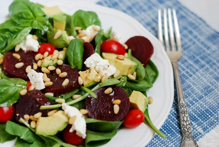 Beet Caprese Salad via Simply Happenstance