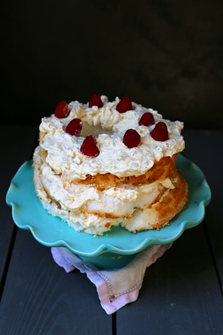 Easy to make and perfect foe Mother's Day, Pineapple Angel Food Cake