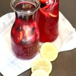 Lemon Blueberry Simple Syrup Recipe. Easy and perfect for summer.