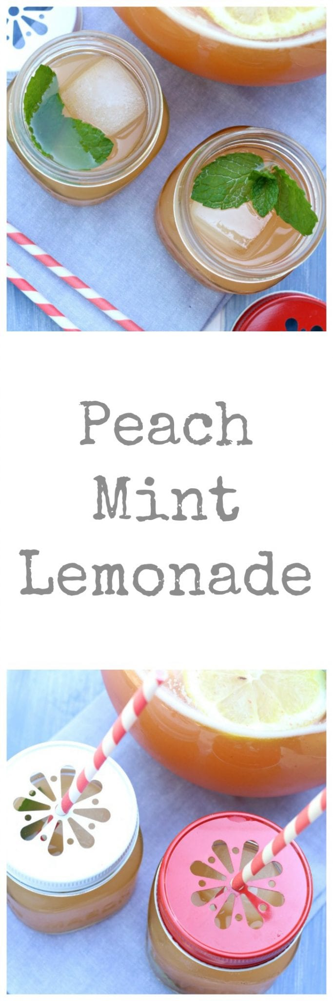 Cheers to summer with this light and tangy Peach Mint Lemonade.
